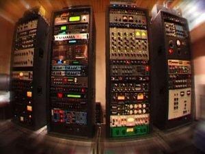 Racks of audio gear