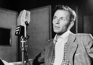 Frank Sinatra and an RCA 44 Ribbon Microphone