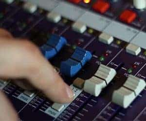 Hands on mixing board
