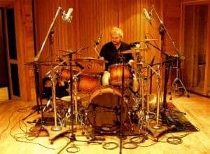 Drum microphone set up