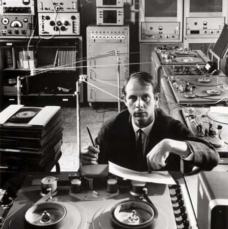 Pictured is German Musique Concrete composer Karlheinz Stockhausen