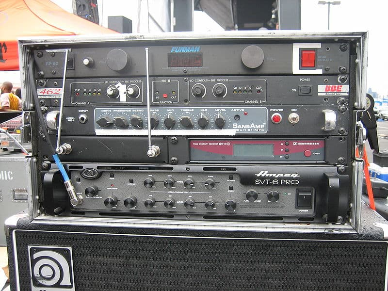 Rack of audio gear with Furman Power Conditioner