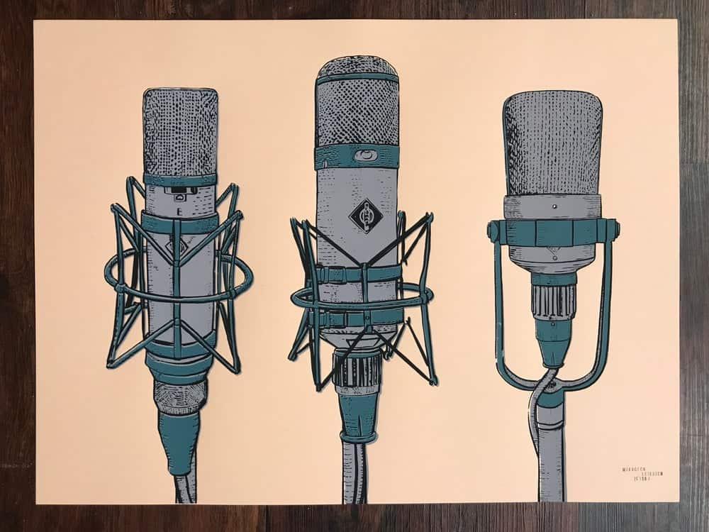 Analogprints.net Analog Audio Music Production Poster