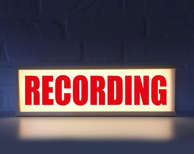 Recording Lightbox