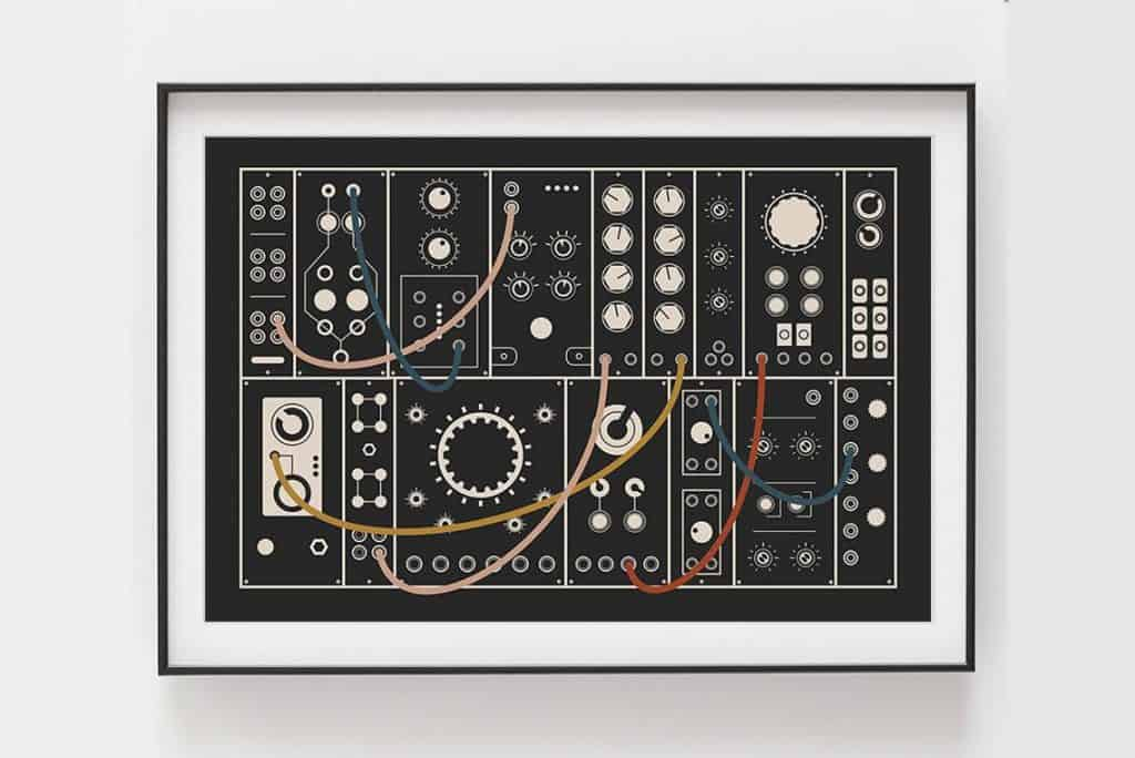 Music synth wall art from Gliss Prints